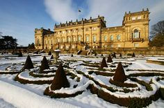 Harewood House in winter. Harewood House, England And Scotland, Derbyshire, Best Memories, Beautiful Landscapes, Yorkshire, 18th Century, Places To Go, Mansions