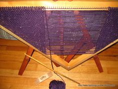 Tri Loom weaving is weaving with one continuous strand.