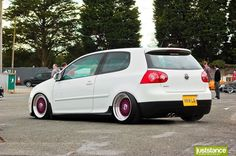 White VW GTI MK5 by juststance