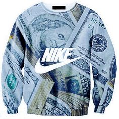 Custom Nike Crewneck ($45) ❤ liked on Polyvore featuring tops, sweaters, shirts, checkered shirt, blue crew neck sweater, crewneck sweaters, blue checkered shirt and galaxy print shirt