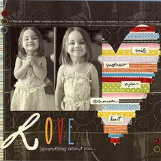 #papercraft #scrapbook #minialbum. Finish Off Ribbon Remnants - LO by Amy Howe