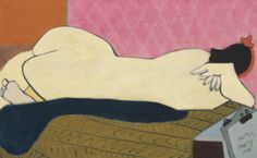 Milton Avery (American, 1885-1965), Nude, 1948. Oil on canvas, 25 x 40 in