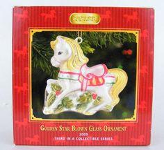 Breyer Golden Star is blown glass from 2009. the original box which shows slight shelf wear.   eBay!