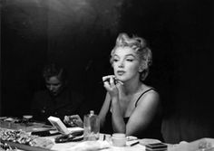 Marilyn Monroe in the dressing room of Broadway star Carol Haney St. James Theatre, New York City