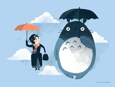 Mary Poppins and Totoro