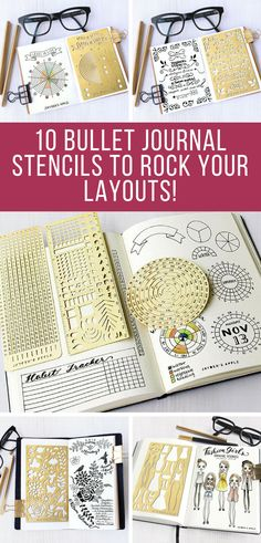 If there could be a downside to using a Bullet Journal it's that the spreads can be quite time consuming to set up… unless you use one of these genius stencils that is! #bulletjournal