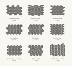 Alternatives to White Subway Tile (Centsational Girl) Hexagon Backsplash, Mosaic Tiles, White Subway Tiles, White Kitchen Cabinets, White Kitchens, Dream Kitchens, Base Cabinets, Home Decor Shops, Tile Patterns