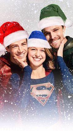 Holiday Heroes #Arrow #Supergirl #TheFlash