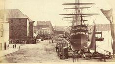Circular Quay from Pitt Street, Sydney, 1870.