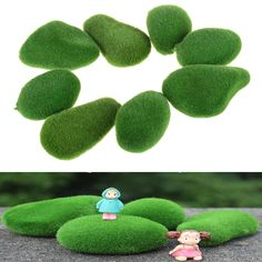 Artificial Fresh Moss Balls Green Plant Stones Home Party Decoration Pop Rose Garland, Leaf Garland, Artificial Silk Flowers, Fake Flowers, Artificial Plants, Aquarium Decorations, Diy Aquarium, Silk Flower Bouquets, Foam Roses