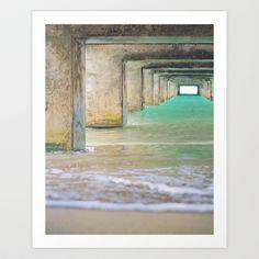 Hanalei Bay Pier Fine Art photography Art Print by Wisteria Design Photography - $28.08