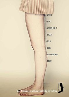 Really like this image... I heard once that women over 30(?) should never wear over the knee skirts... still don't get that. - Judging Women by Clothes Campaign | POPSUGAR Fashion
