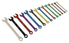 Sealey Combination Spanner Set 14pc Multi-Coloured Metric Sealey Combination Spanner Set 14pc Multi-Coloured Metric.  #Sealey #HomeImprovement