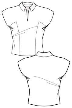 Sewing patterns- view our large collection of fashionable trend-led sewing patterns. Learn sewing construction techniques and make garments - Start making now! Flat Drawings, Flat Sketches, Technical Drawings, Dress Sketches, Fashion Design Portfolio, Fashion Design Drawings, Drawing Fashion, Fashion Illustration Sketches, Fashion Sketches
