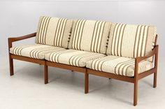 Teak Furniture DK3677北欧家具チーク無垢材トリプルソファ マリメッコカリモク インテリア 雑貨 Modern ¥178000yen 〆07月08日
