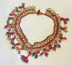 Necklace with turkish laces by turkish_beadworks, via Flickr