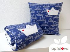 AHOI! Kuscheldecke Babydecke Kinderdecke Decke von apfeleva auf DaWanda.com