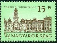 Stamp: Festetics Castle, Keszthely, paper with fluorescent fibres (Hungary) (Castles) Mi:HU Taj Mahal, Stamps, World, Building, Travel, Paper, Castles, Computer File, Seals