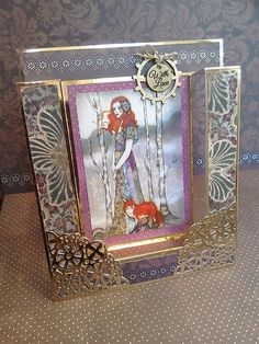 Willow Upturned Shutter-Style Card Art Deco Cards, Make Your Own, How To Make, Blank Cards, Shutters, Card Making, Scrapbook, Projects, Crafts