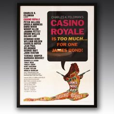 'CASINO ROYALE' ORIGINAL FILM POSTER