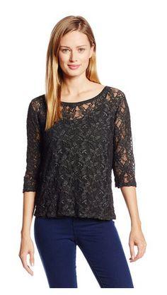 Women's Novelty Wash Lace Shirt