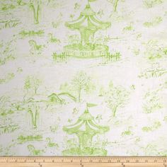 Carousel Dreams Toile Grass from @fabricdotcom  Designed by Cynthia Coulter for Wilmington Prints, this cotton print fabric is perfect for quilting, apparel and home décor accents. Colors include shades of green and white.