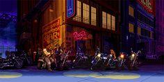 A incrível arte 2D dos cenários de jogos de luta