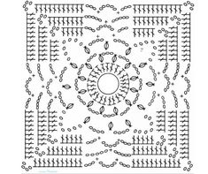 Transcendent Crochet a Solid Granny Square Ideas. Inconceivable Crochet a Solid Granny Square Ideas. Crochet Bedspread Pattern, Crochet Motif Patterns, Crochet Blocks, Point Granny Au Crochet, Granny Square Crochet Pattern, Crochet Squares, Crochet Pouch, Crochet Chart, Filet Crochet