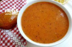 Tarhana Tadında Domates Çorbası Tarifi Iftar, Cheeseburger Chowder, Cantaloupe, Salsa, Food And Drink, Soup, Fruit, Ethnic Recipes, Turkish Recipes