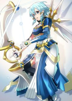 Sword Art Online Cosplay, Sword Art Online Yuuki, Kunst Online, Online Art, Sinon Ggo, Sao Anime, Sword Art Online Wallpaper, Blue Anime, Accel World