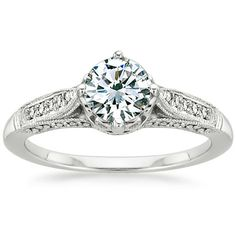 Platinum Heirloom Diamond Ring (1/4 ct. tw.) from Brilliant Earth