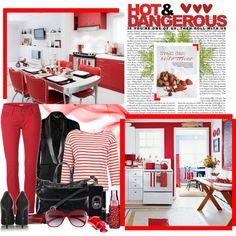 red skinny jeans, striped shirt, D glasses = hot & dangerous combo
