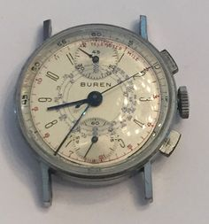 Vintage I940 Buren Military Chronograph Wristwatch Clean Running | eBay