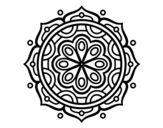 Dibujo de Mandala para meditar para colorear