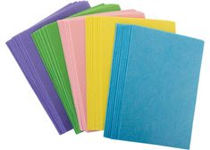 This bulk pack of pastel felt can be cut, glued or sewn to any craft creation. Great for Easter & Mother's Day classroom craft activities. Children can create flowers, pendants, bunnies and more. The pack includes 5 pastel colours: purple, green, pink, yellow and blue. Pack of 50 sheets (10 of each colour). Sheet size: 30(L) x 20(W)cm.