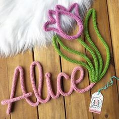 Crochet Letters, Spool Knitting, Knit Mittens, Origami, Diy And Crafts, Embroidery, Wool, Handmade, String Letters