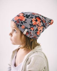 6b56dba722b1 Floral Slouch Beanie – Kindred OAK One day when I have a girl!  kindredoak