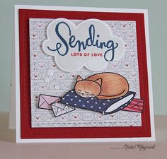 Adorable card by Nichol using the July 2014 card kit by Simon Says stamp a long with Simon Exclusives.