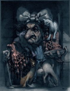 Baba Jaga, Е. Фасс. Старушка с кошками
