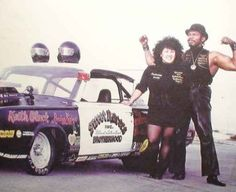 """""""Big Willie"""" Robinson and Tomiko.  Leaders of the 'Brotherhood of Street Racers' founded to promote equality and organize the racing of street cars in legal venues."""