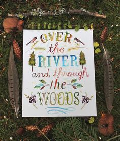 Over The River and Through The Woods paper print  by thewheatfield