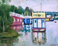 Houseboats on Loch Lomond - George Leslie Hunter - The Athenaeum