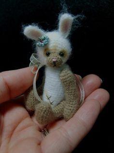 Miniature Crochet THREAD ARTist Vintage Bear ♡ by thetinytoybox