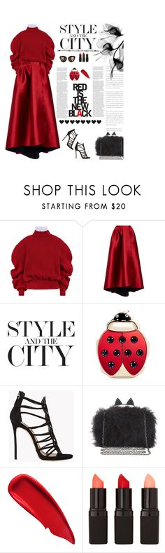 """""""Untitled #2615"""" by amimcqueen ❤ liked on Polyvore featuring A.W.A.K.E., Sachin + Babi, Charlotte Olympia, Dsquared2, BCBGMAXAZRIA, Sisley and Barry M"""