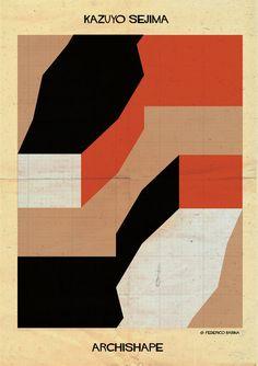 """ARCHISHAPE: """"Architecture Shapes in Minimalist Clothing"""",Courtesy of Federico Babina"""
