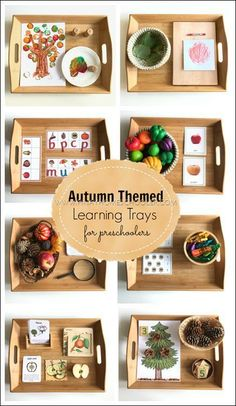 Montessori Inspired Autumn Themed Learning Activities Montessori Inspired Autumn Themed Learning Activities,montessori Autumn themed learning trays for preschoolers Related Fun Back-to-School Activities and Icebreakers Montessori Trays, Montessori Homeschool, Montessori Classroom, Montessori Activities, Montessori Baby, Montessori Kindergarten, Montessori Practical Life, Montessori Elementary, Montessori Bedroom