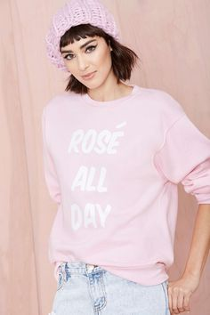 Nasty Gal x Private Party Rosé All Day Sweatshirt | Shop Clothes at Nasty Gal
