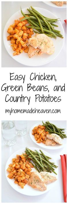 This is a quick and easy dinner that our whole family loves! These country potatoes are SO addicting!