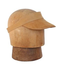 Light Brown Rockafellow Leather Visor | #righttribe #leathervisor #style