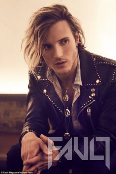 From boy to man: McFly's Dougie Poynter, 28, looked every inch a rockstar in an array of punk-rock outfits for Fault magazine, as he tells all of the future of McFly, which he has been a member of since he was 16